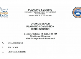 Orange Beach Planning Commission to meet October 12, 2020