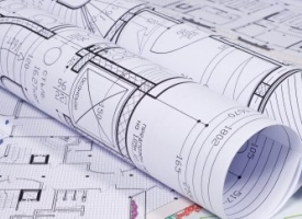 Planning and zoning generic image of rolled up blueprints
