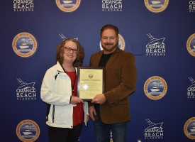 Renee Gardner recognized for 30 years of service to City of Orange Beach