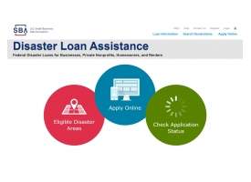 SBA Disaster Loan Assistance graphic