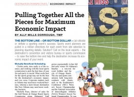 Sports Economic Impact article by Ally Mills Dorrough, May 2018