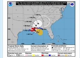 Tropical Storm Sally Update – 9 a.m. September 14, 2020