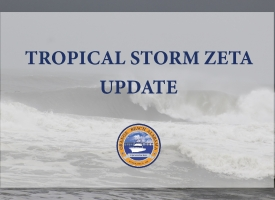 Tropical Storm Zeta Update – 6 p.m. October 27, 2020