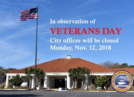 Veterans Day 2018 closings graphic