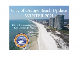 City of Orange Beach Winter 2021 Update presentation cover page