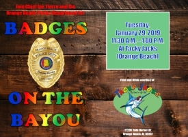 "OBPD ""Badges on the Bayou"" lunch set for Jan. 29, 2018 at Tacky Jacks"