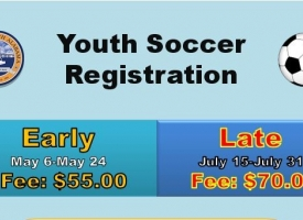 Orange Beach youth soccer registration flyer
